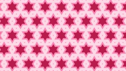 Pink Seamless Star Pattern Background