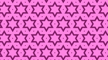 Fuchsia Stars Pattern Background