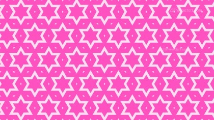 Rose Pink Seamless Stars Pattern Background