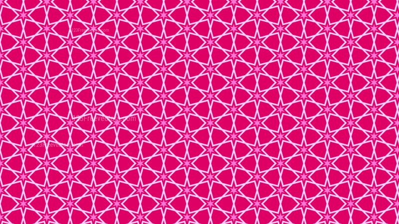 Pink Star Background Pattern Vector Graphic