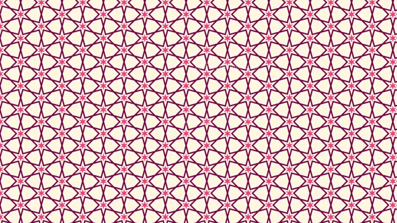 Pink Stars Pattern Vector