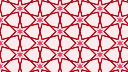 Pink Seamless Stars Pattern Illustration