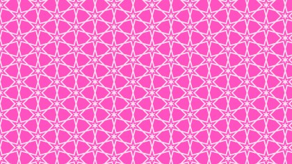 Rose Pink Seamless Star Pattern Background