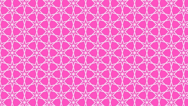 Rose Pink Seamless Star Pattern Background