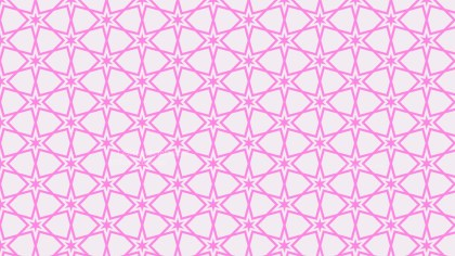 Rose Pink Seamless Stars Background Pattern
