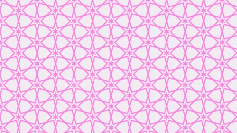 Rose Pink Seamless Stars Background Pattern