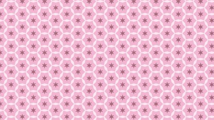 Pink Star Pattern Background Vector Illustration