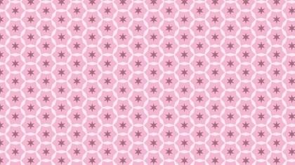Pink Star Pattern Background Vector Illustration