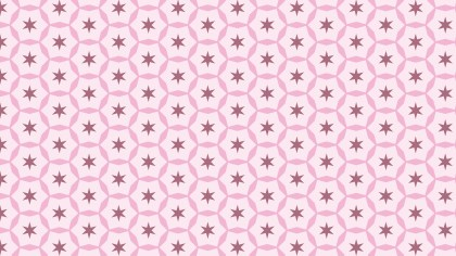 Light Pink Star Background Pattern Vector