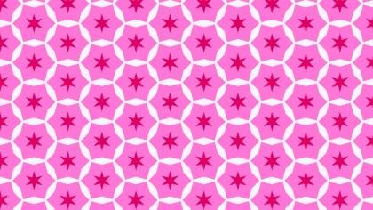 Fuchsia Seamless Star Pattern Vector Art