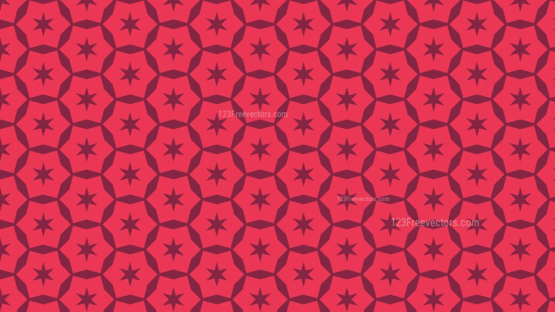 Folly Pink Stars Background Pattern Vector Graphic