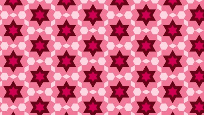Pink Star Background Pattern