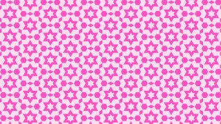 Fuchsia Seamless Star Pattern