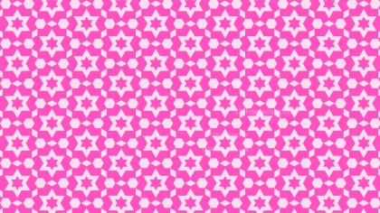 Fuchsia Seamless Star Pattern Background