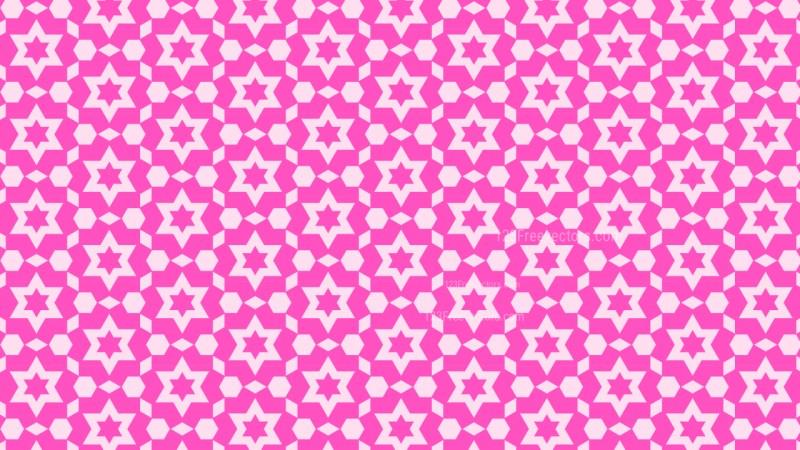 Fuchsia Seamless Star Pattern Background