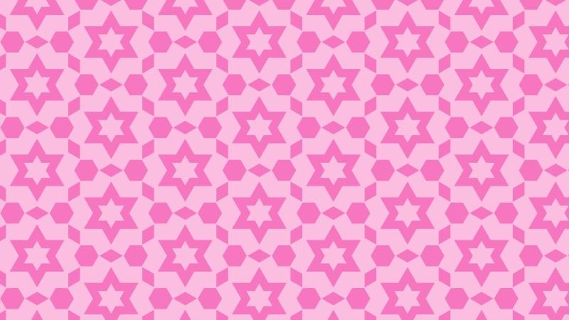 Rose Pink Seamless Star Background Pattern