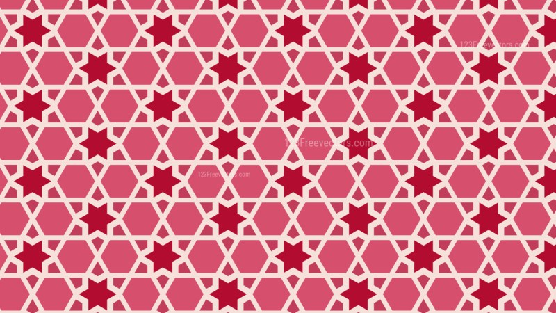 Pink Stars Background Pattern