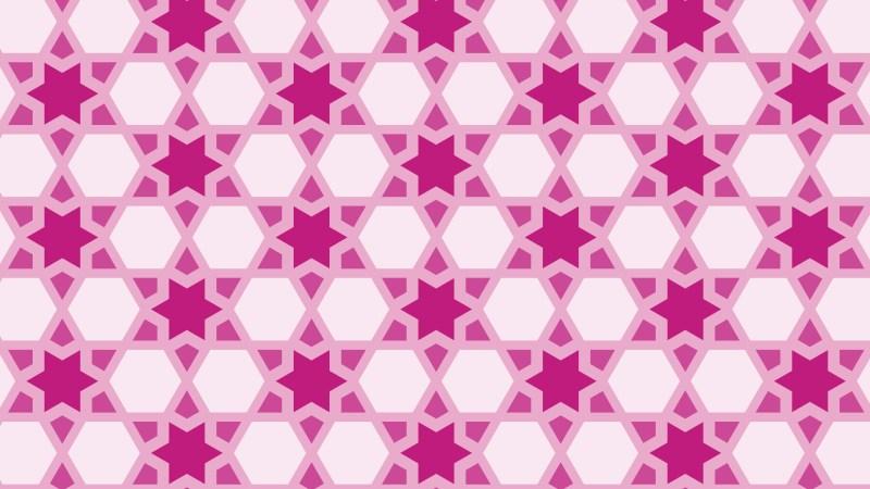 Pink Seamless Stars Pattern