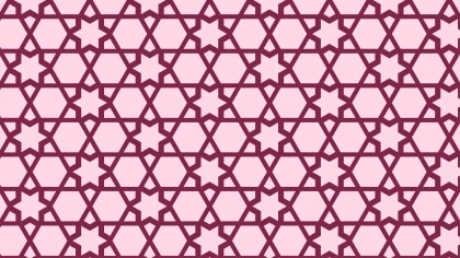 Pink Seamless Stars Pattern Background