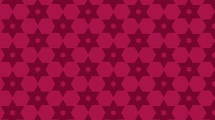 Pink Star Background Pattern Design