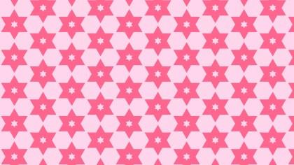 Pink Seamless Star Pattern Image