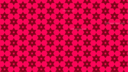Folly Pink Seamless Star Pattern Background Vector Graphic