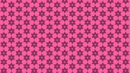Pink Seamless Star Background Pattern Vector Image