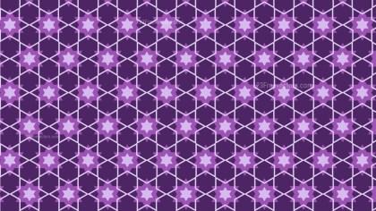 Purple Stars Pattern Illustrator