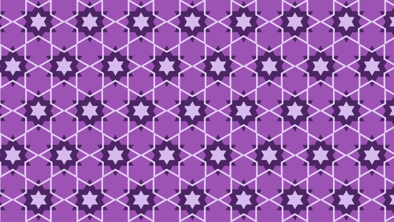 Lilac Stars Pattern Background Vector Illustration