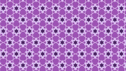 Lilac Stars Background Pattern Vector