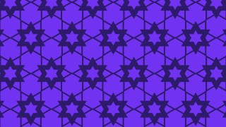 Violet Seamless Star Pattern Vector Illustration