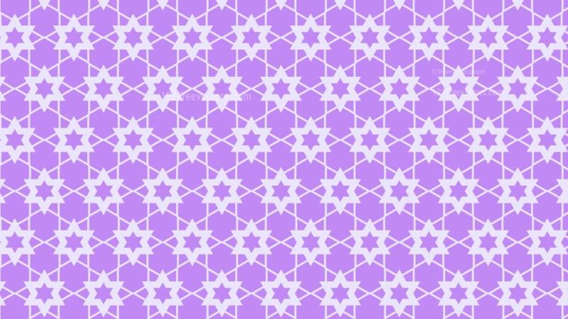 Violet Stars Pattern Graphic