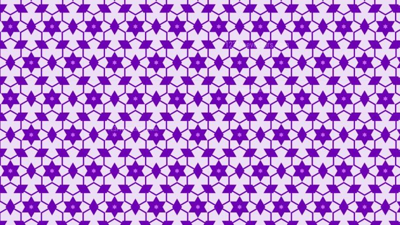 Purple Seamless Stars Pattern Background Vector Graphic