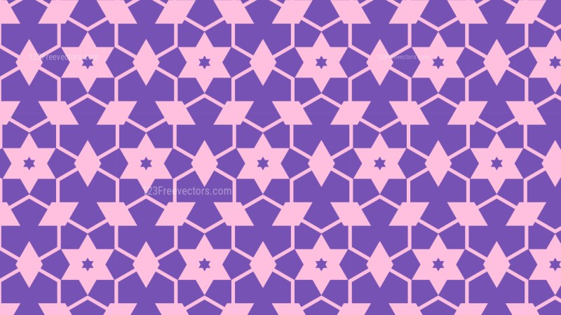 Purple Stars Pattern