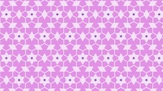 Lilac Seamless Stars Pattern