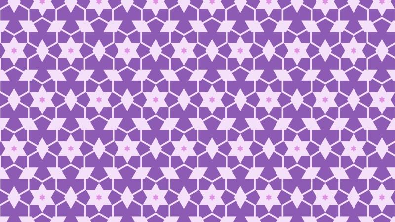 Purple Seamless Stars Background Pattern
