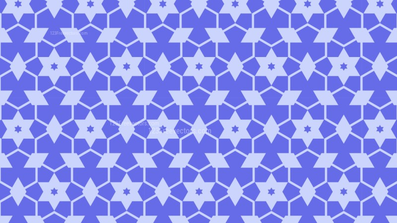 Violet Stars Pattern Vector Graphic