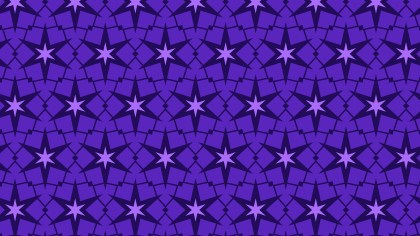 Violet Seamless Stars Background Pattern Vector Art