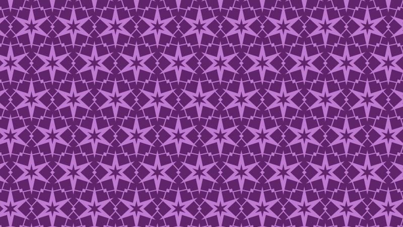 Purple Seamless Star Background Pattern