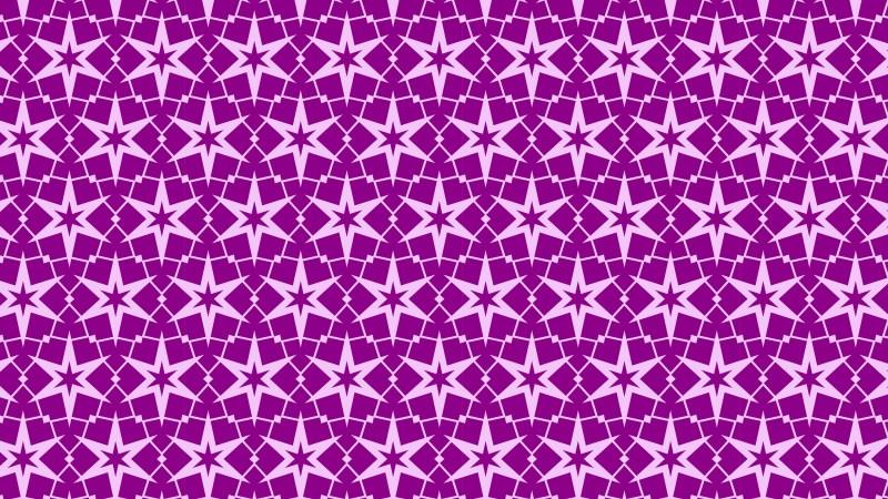 Purple Seamless Star Background Pattern Vector Illustration
