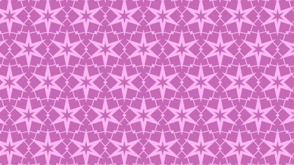 Lilac Stars Pattern Background Vector Art