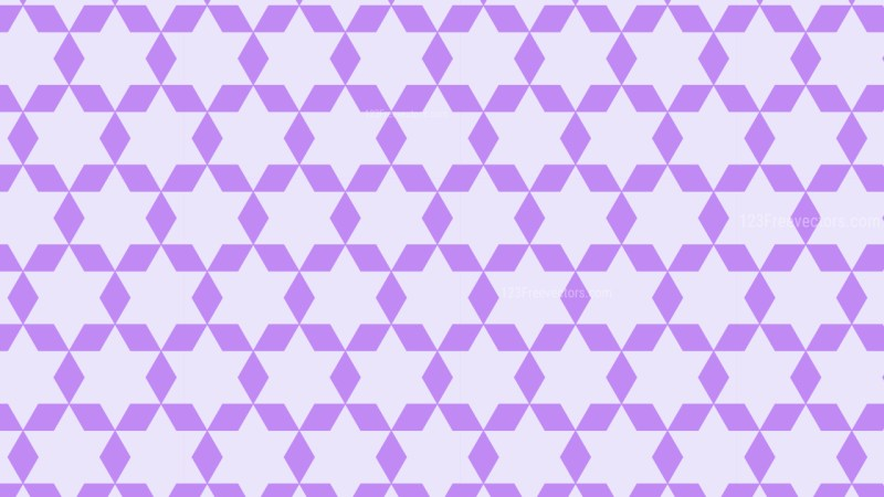 Violet Seamless Stars Pattern Background Design