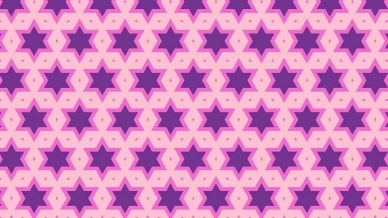 Purple Seamless Stars Pattern