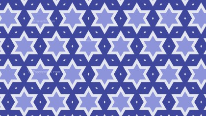 Violet Seamless Stars Pattern Background