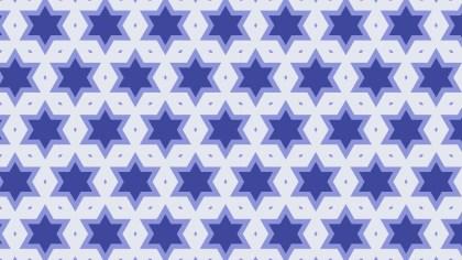 Violet Seamless Stars Background Pattern