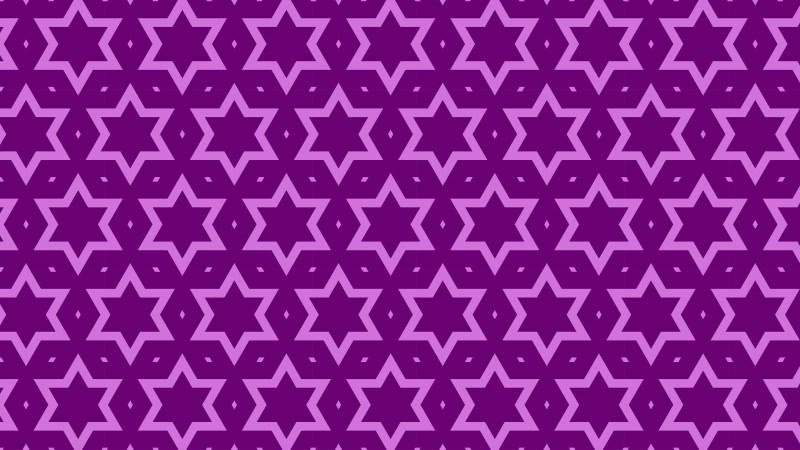 Purple Star Pattern Background Vector Illustration