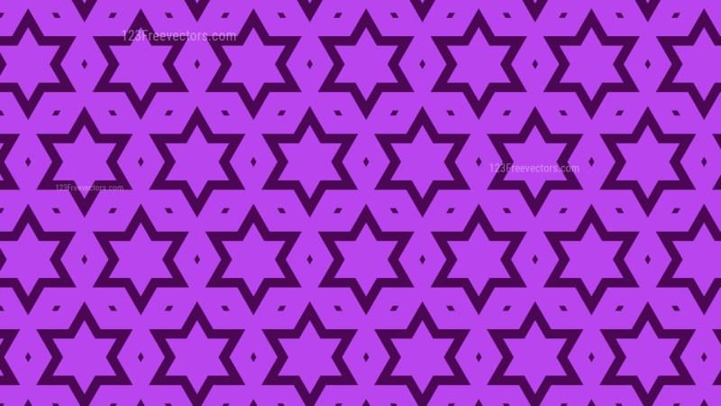 Purple Star Background Pattern Vector