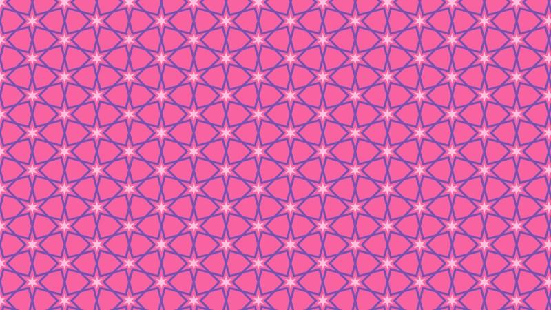 Purple Seamless Stars Background Pattern Vector Illustration