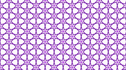 Purple Seamless Stars Pattern Background