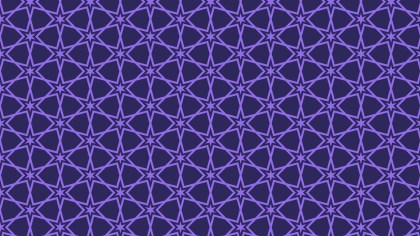 Indigo Seamless Star Pattern Background Vector Graphic